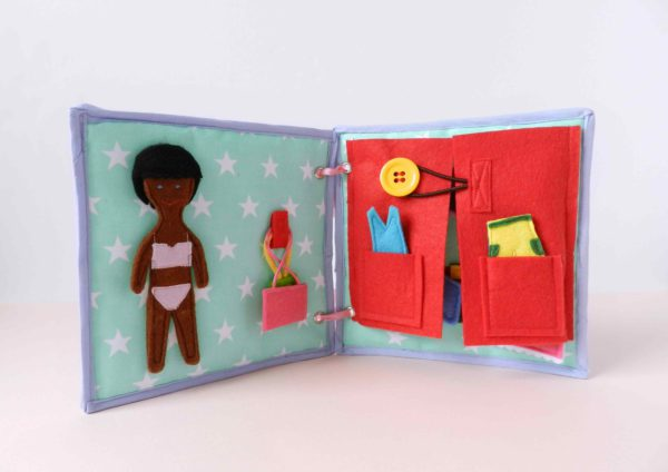 black-felt-doll-with-activity-book-for-children